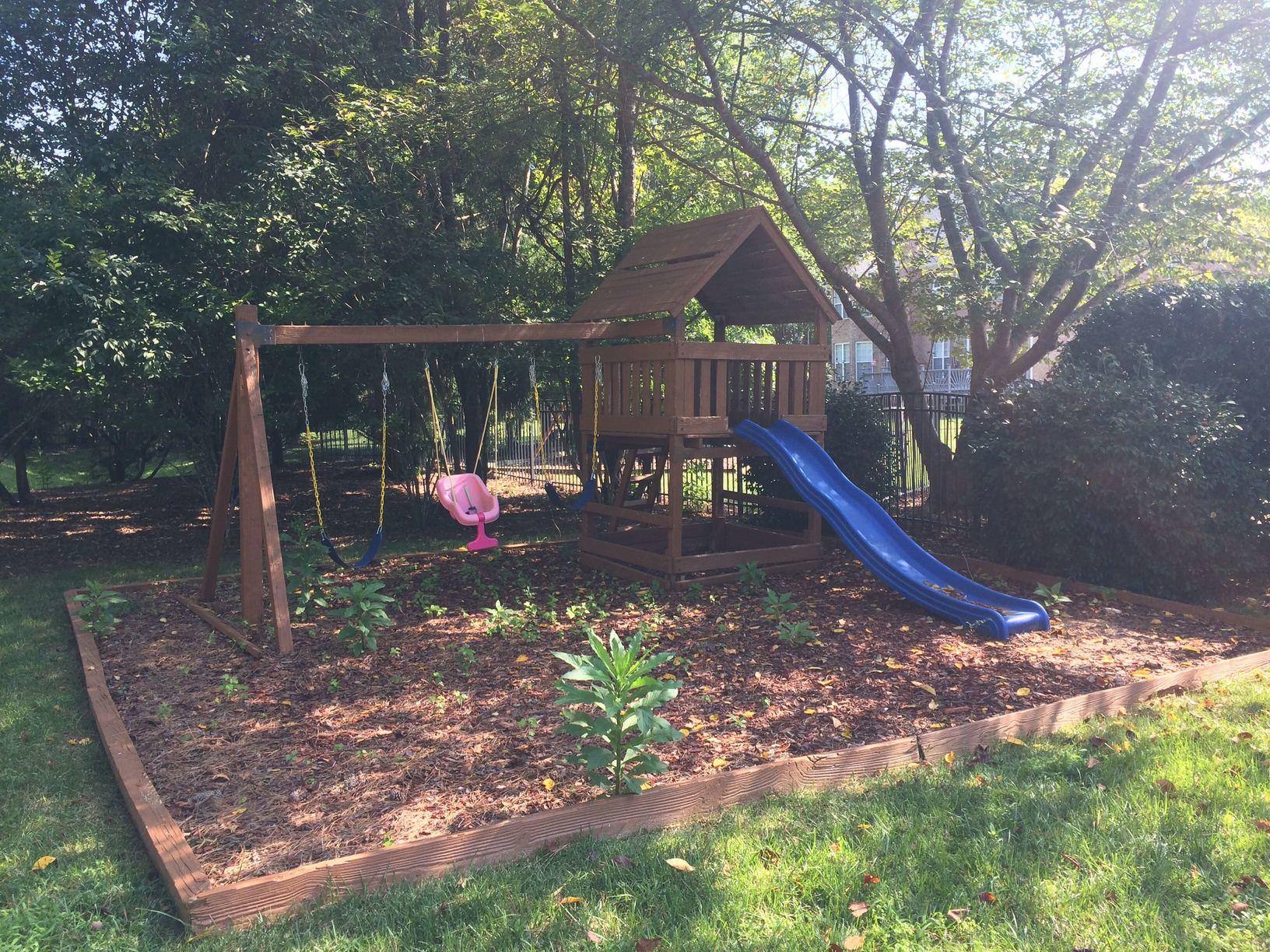 Playset Removal in Weddington, NC - Before Photo