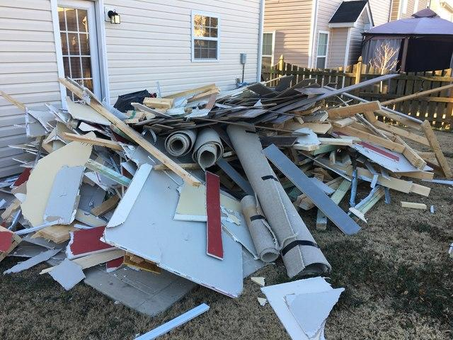Construction Debris Removal in Matthews, NC