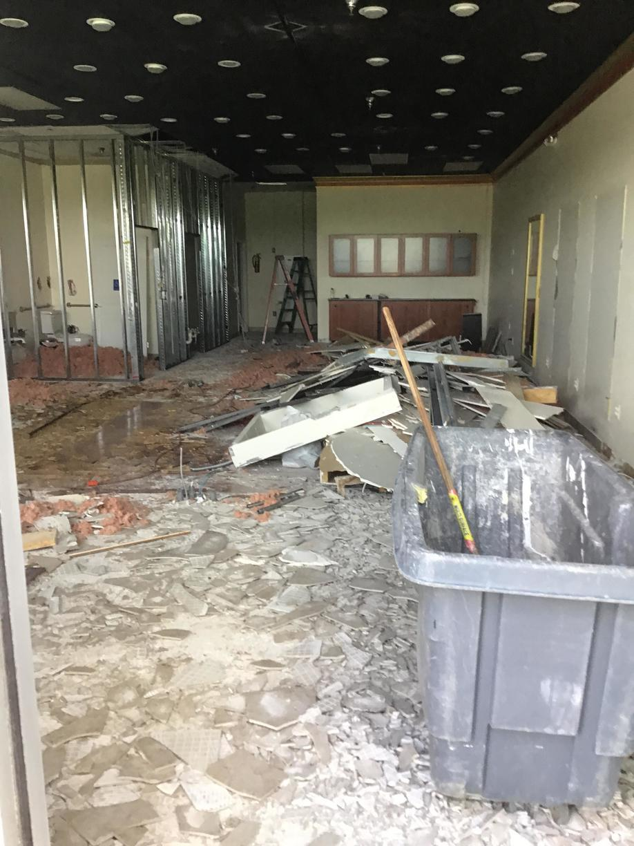 Commercial Office Cleanout in Bristow, VA - Before Photo