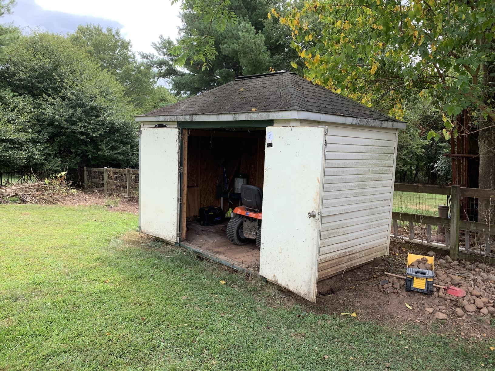Shed Demolition in Aldie, Virginia - Before Photo