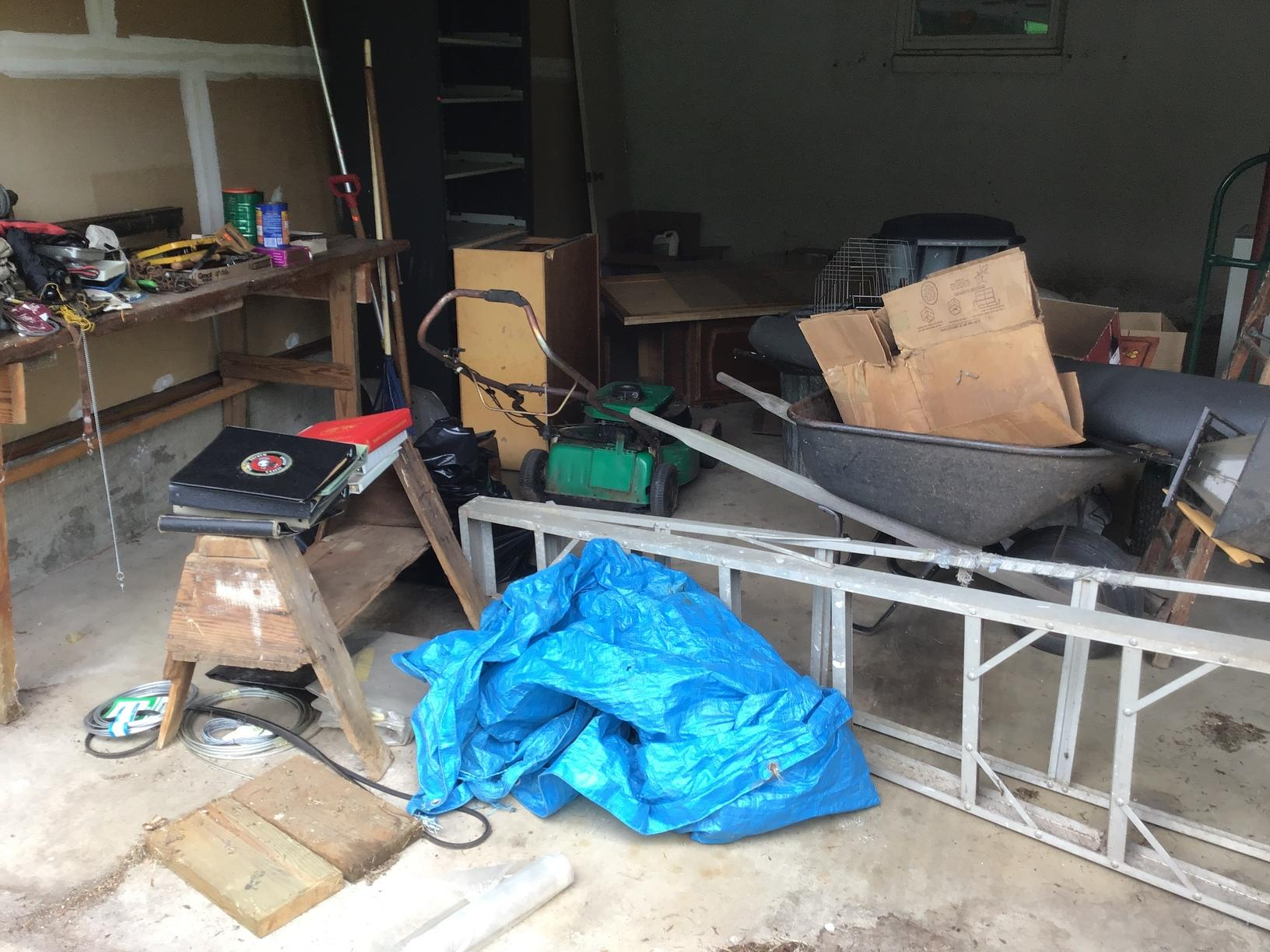 Garage clean out in Ashburn, VA - Before Photo