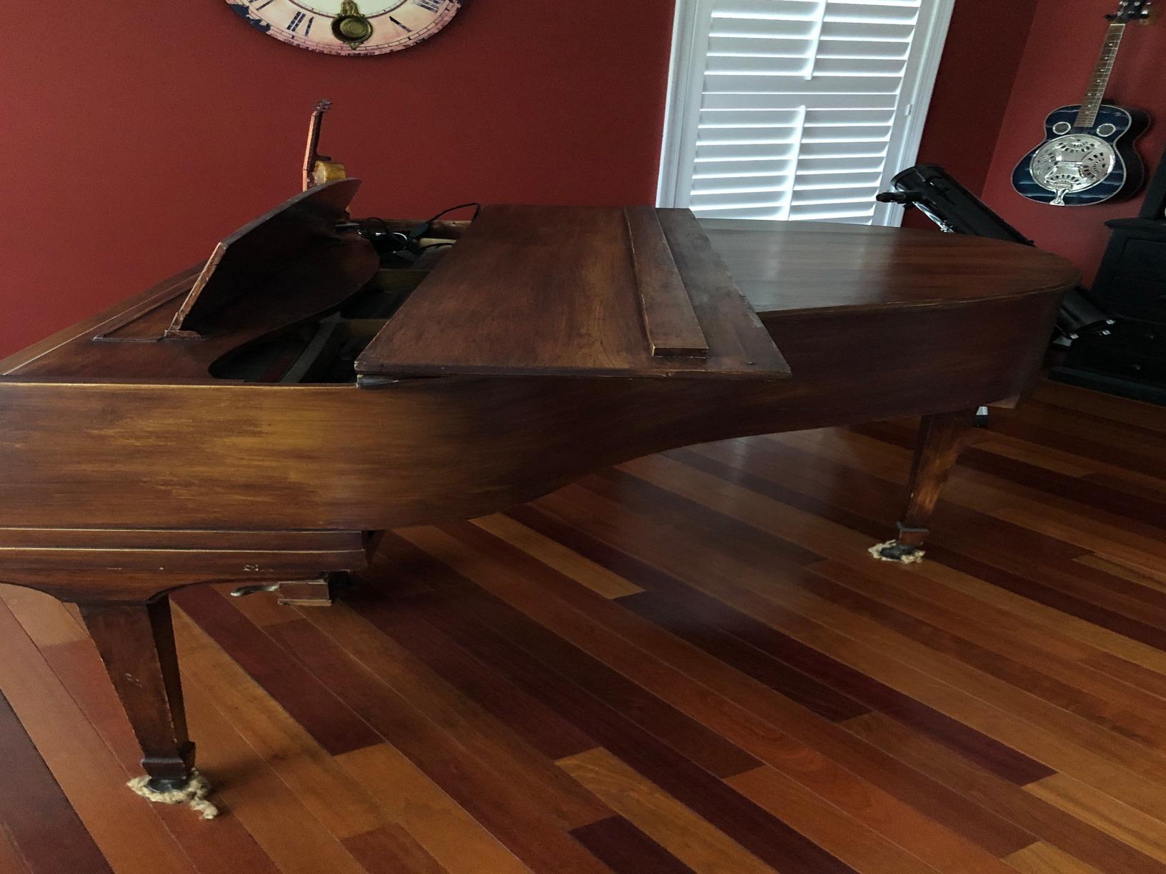 Baby Grand Piano Removal in Warrenton, VA - Before Photo