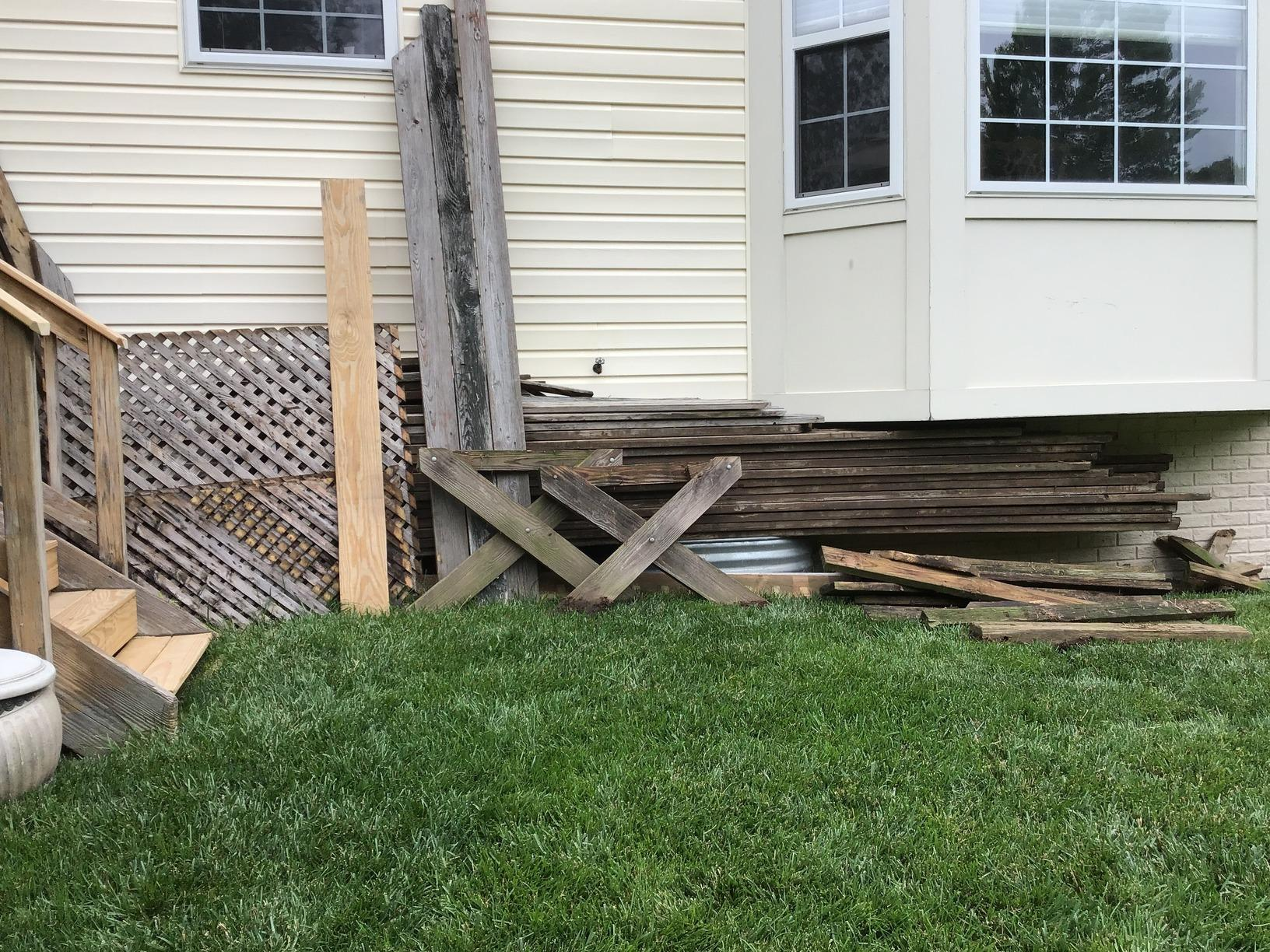 Backyard Clean Out in Gainesville, VA - Before Photo