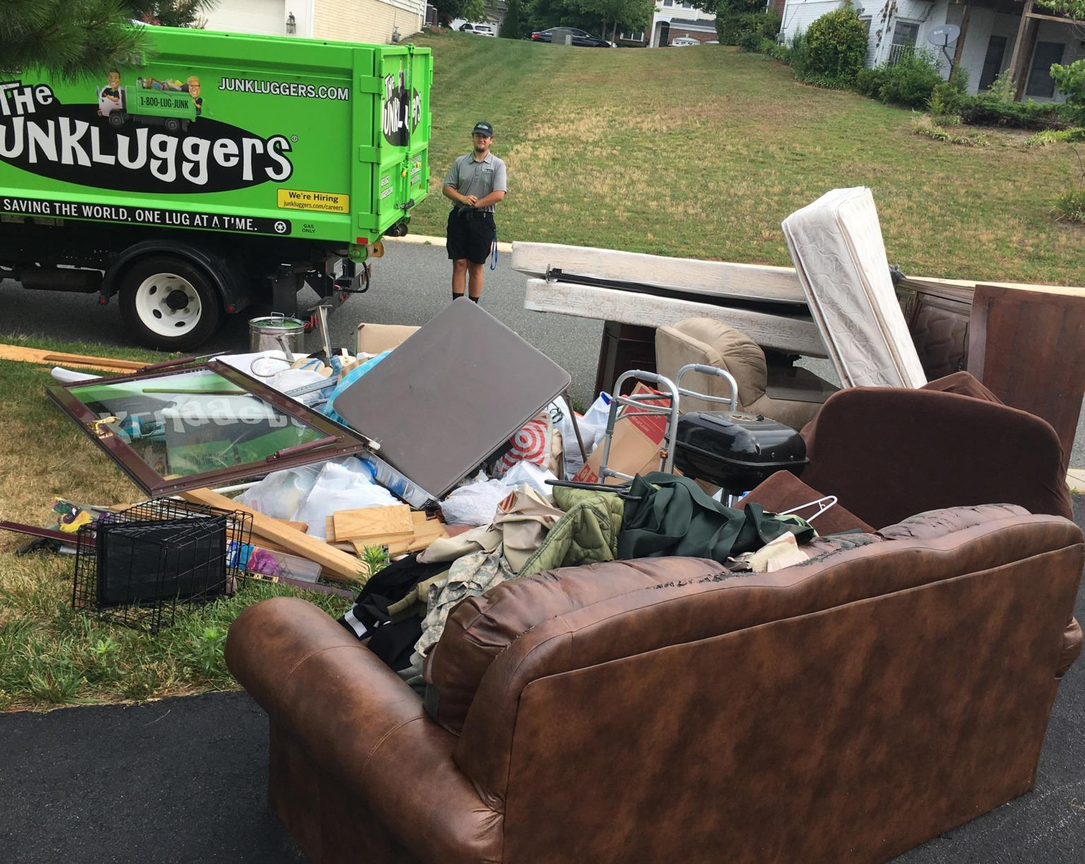 Curbside junk removal in Woodbridge, VA - Before Photo