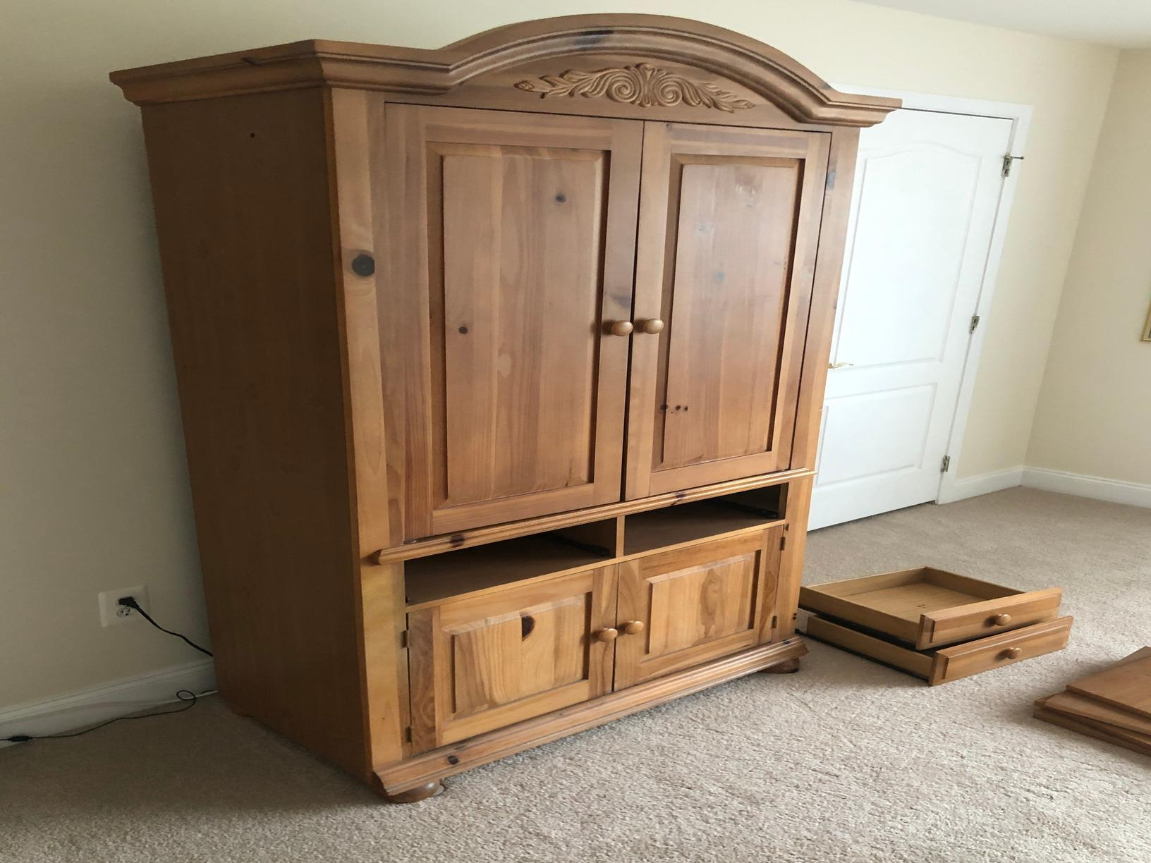 Armoire removal in Haymarket, VA - Before Photo