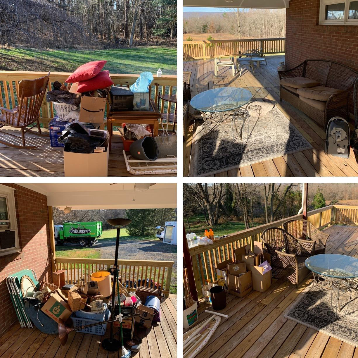 Outdoor Patio Clean Out in Haymarket, VA - Before Photo