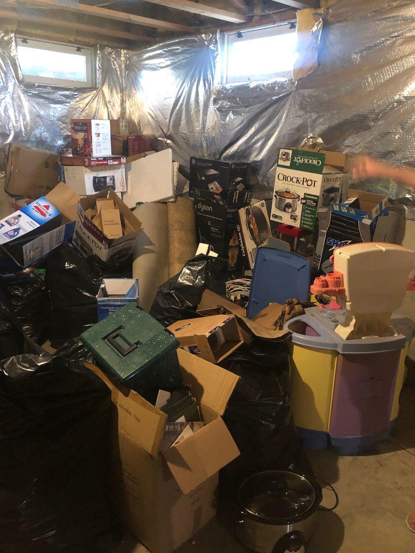 Basement Cleanout in Manassas, VA - Before Photo