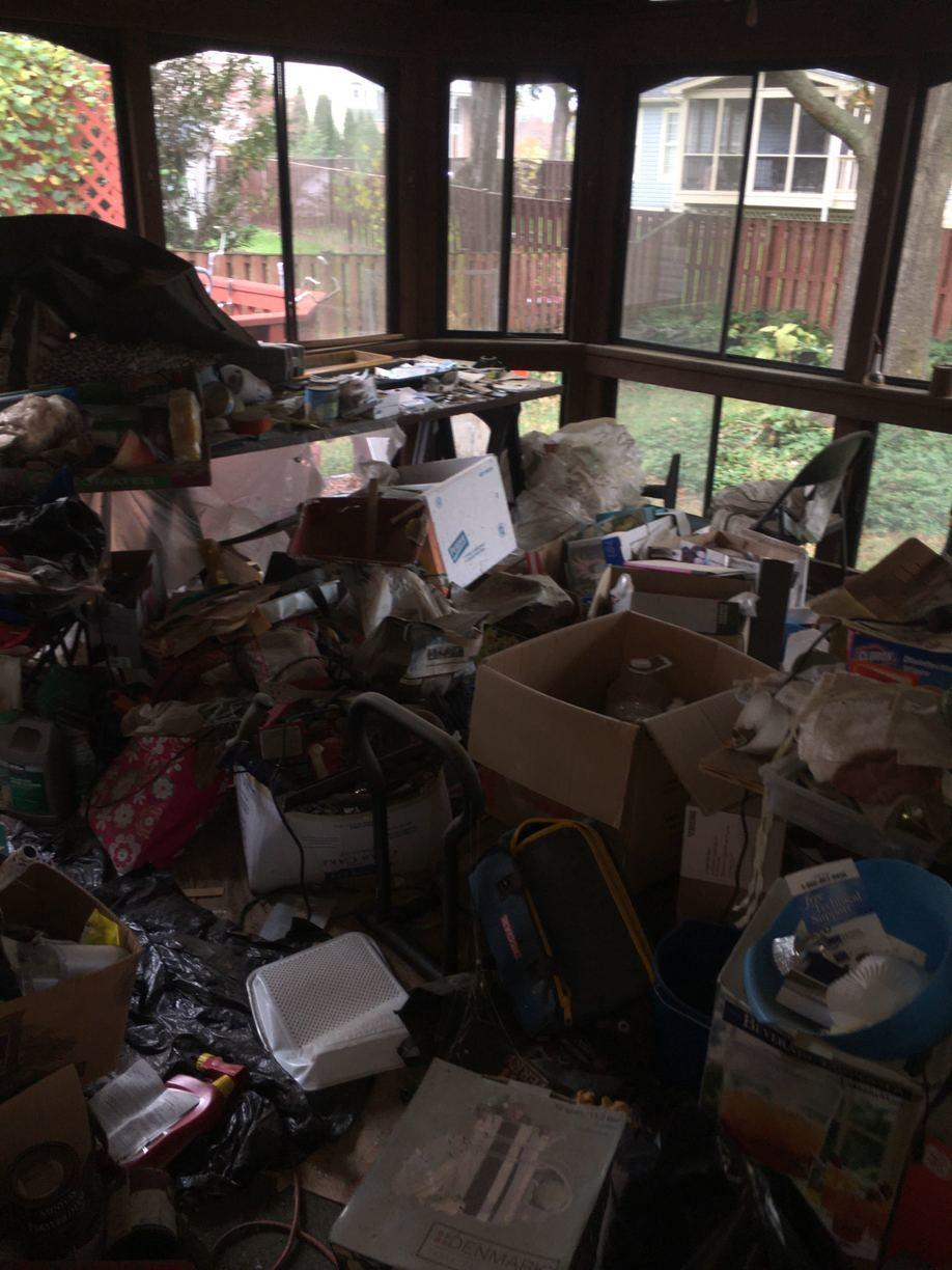 Clean out in Leesburg VA - Before Photo