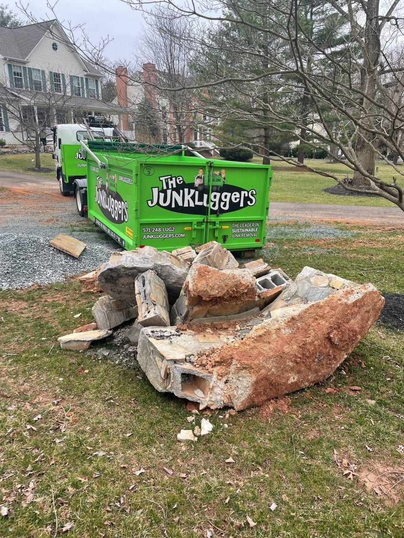 Concrete Removal in Haymarket, VA - Before Photo