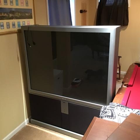 Huge TV removal in Woodbridge, VA
