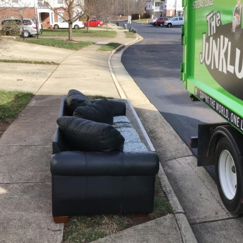 Couch Removal in Manassas, VA - Before Photo
