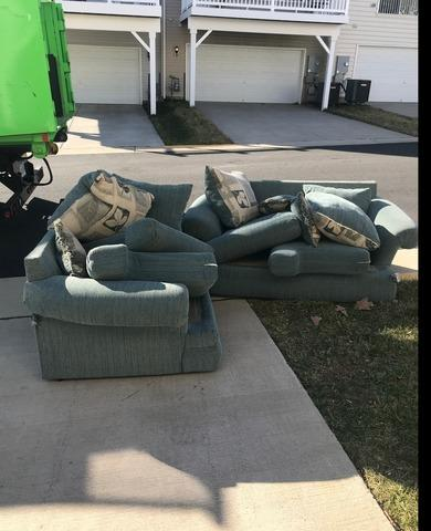 Couch Removal in Haymarket, Virginia - Before Photo