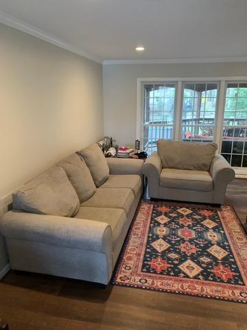 Couch removal in Reston, VA - Before Photo