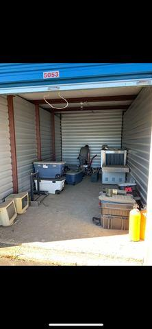 Storage unit clean out in Chantilly - Before Photo