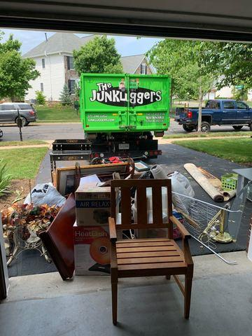 Garage Junk Removal in Haymarket VA - Before Photo