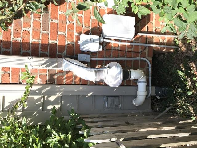 Radon Mitigation Diagnostics and Fan Replacement Winston Salem, NC - Before Photo