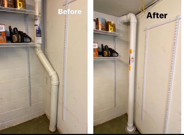 True Air Technologies Improves Underperforming Radon Systems - Before Photo
