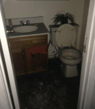 Hanover, Pennsylvania Bathroom Flood Damage Repair - Before Photo