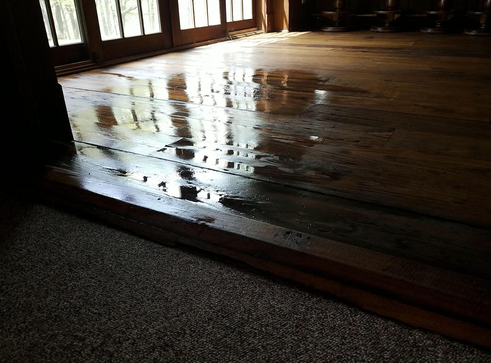 Barn Wood Water Damage in Newtown, CT - Before Photo