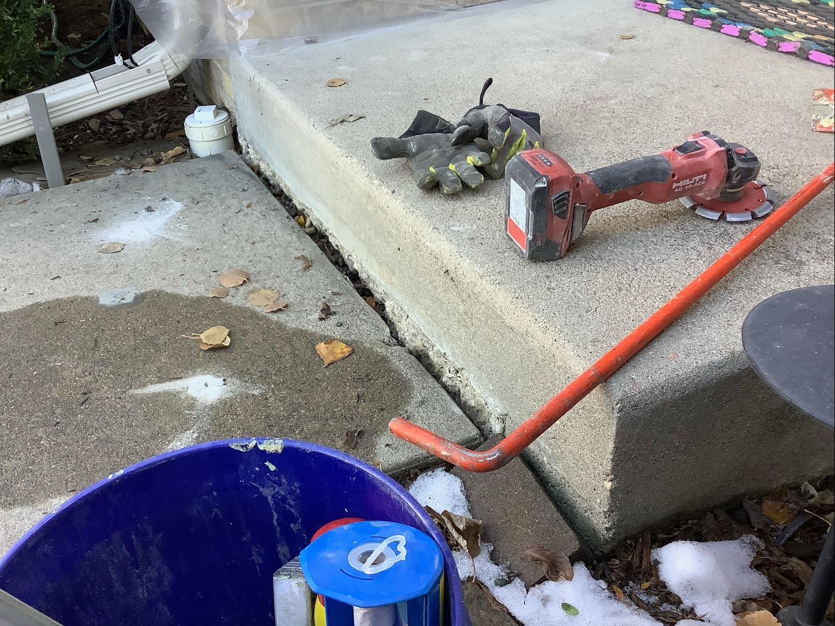 Sidewalk lift and level in Fort Collins, CO. - Before Photo