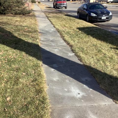 Repaired sinking sidewalk in Sterling, CO