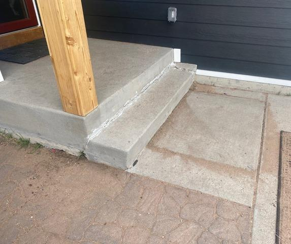 Lifted and Leveled stoop in Berthoud, CO
