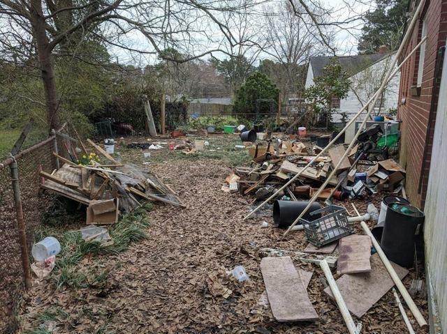 Yard Waste & Debris Removal - Before Photo