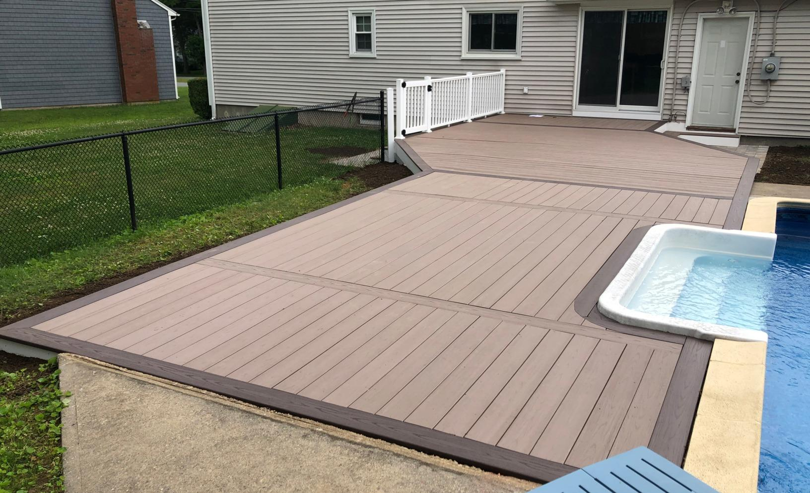 Stonington, CT Pool Deck Replacement - After Photo