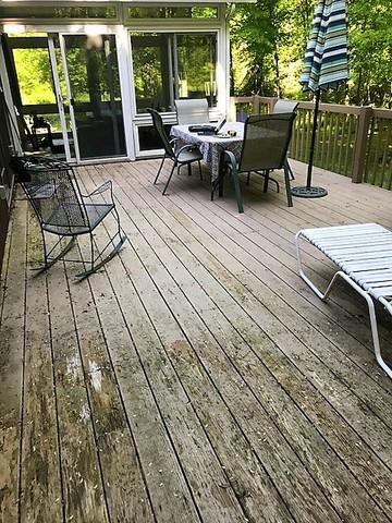Deck Replacement in East Haddam, CT - Before Photo