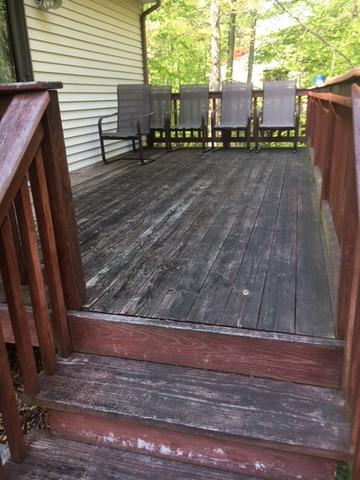 Deck Replacement in Ledyard, CT - Before Photo