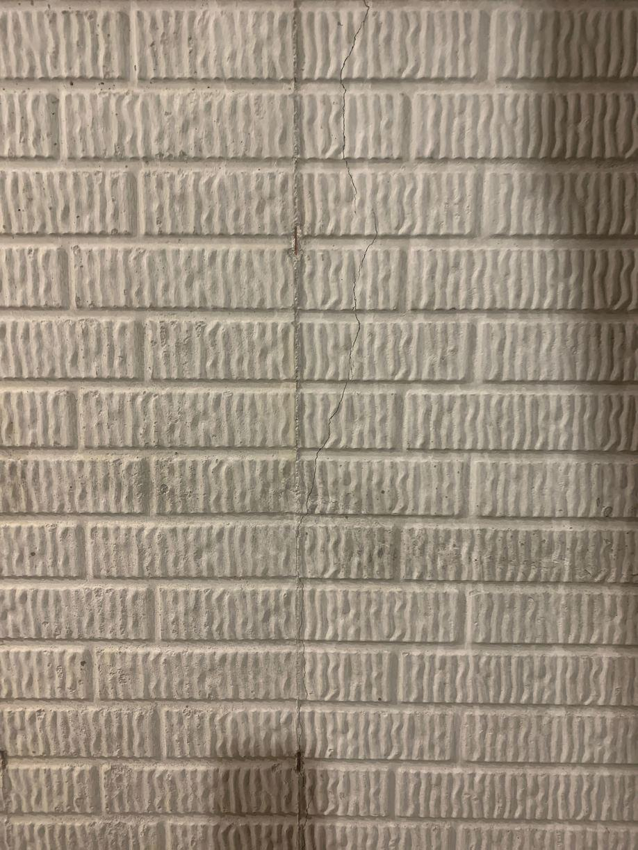 Basement Wall Repair in New Albany, OH - Before Photo