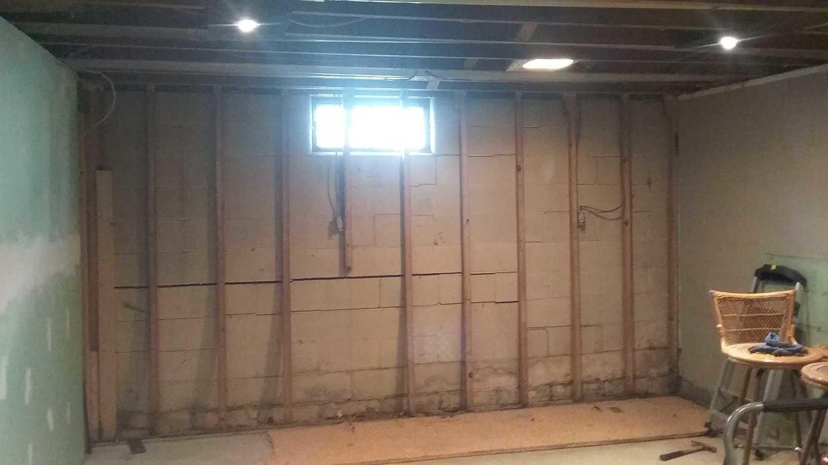 PowerBrace Wall Stabilization in Zanesville, OH - Before Photo