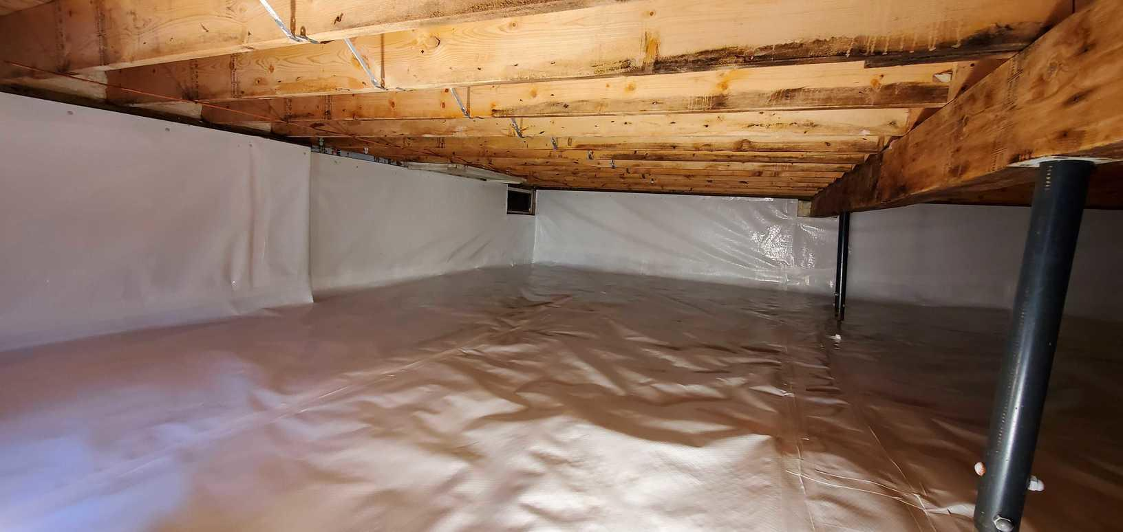 Crawl Space Encapsulation in Thornville, OH - After Photo