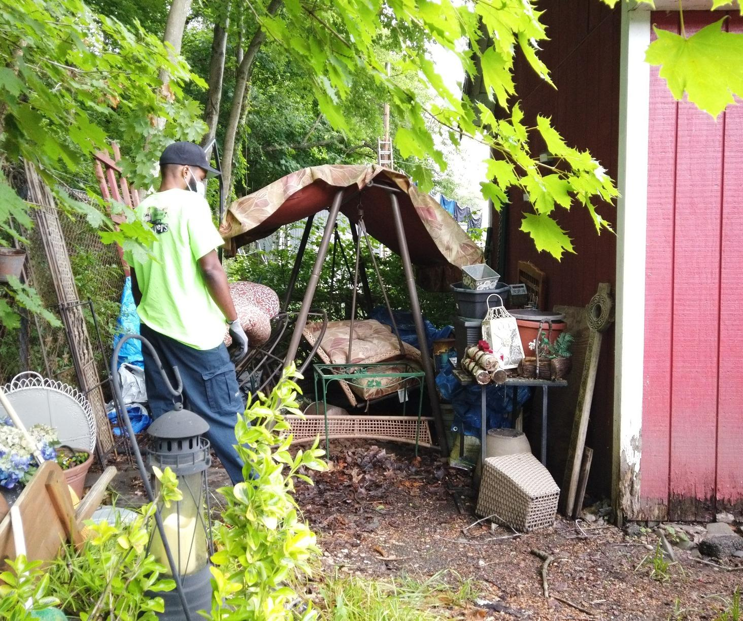 Outdoor Clean Up in Beacon Falls, CT - Before Photo