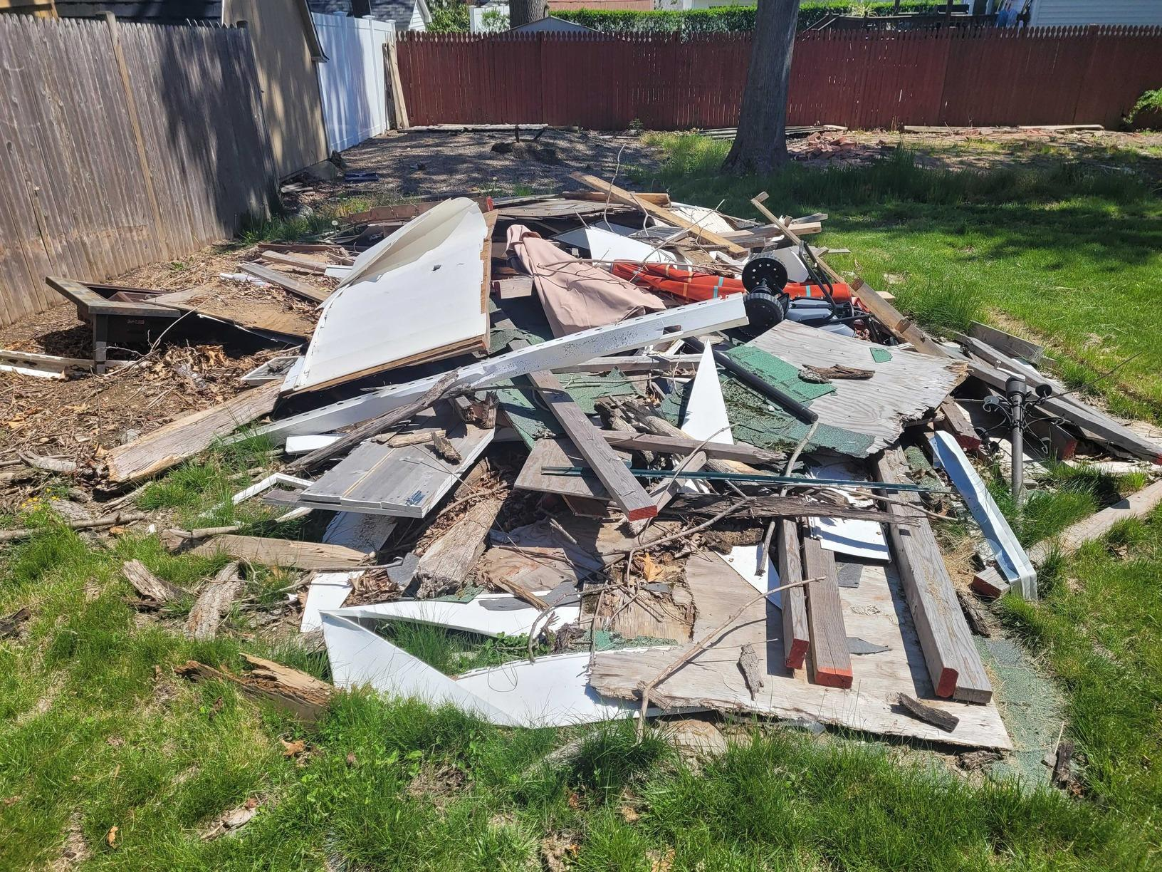 Outdoor Junk Removal in South Britain, CT - Before Photo