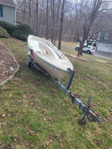 Boat Removal in South Britain, CT - Before Photo