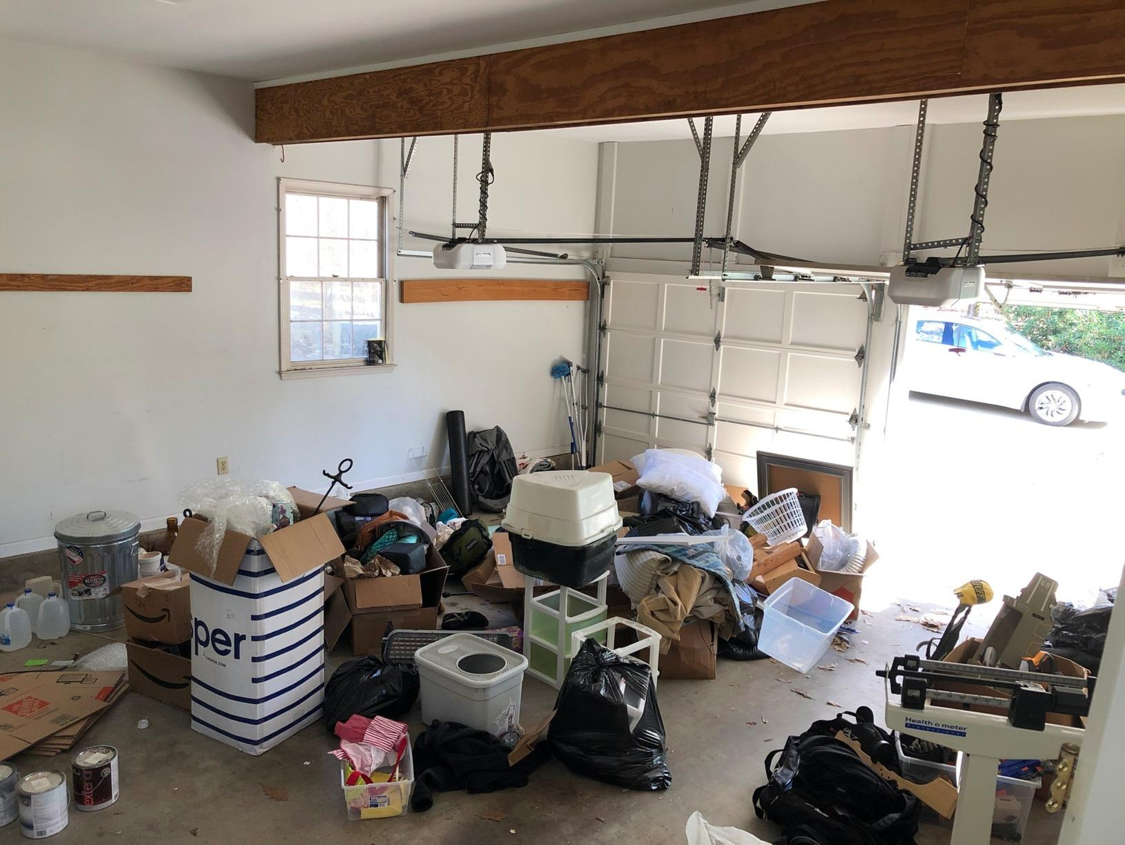 Garage Junk Removal in Cumming, GA - Before Photo