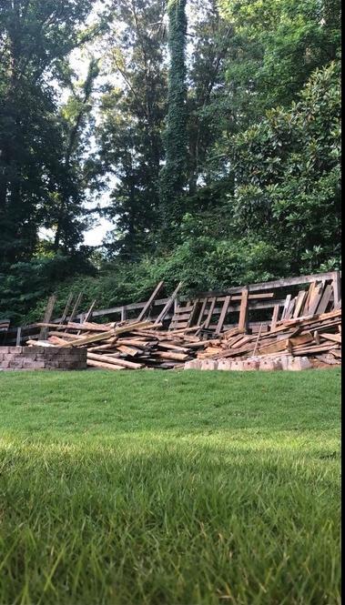 Construction Debris Removal in Cumming, GA - Before Photo