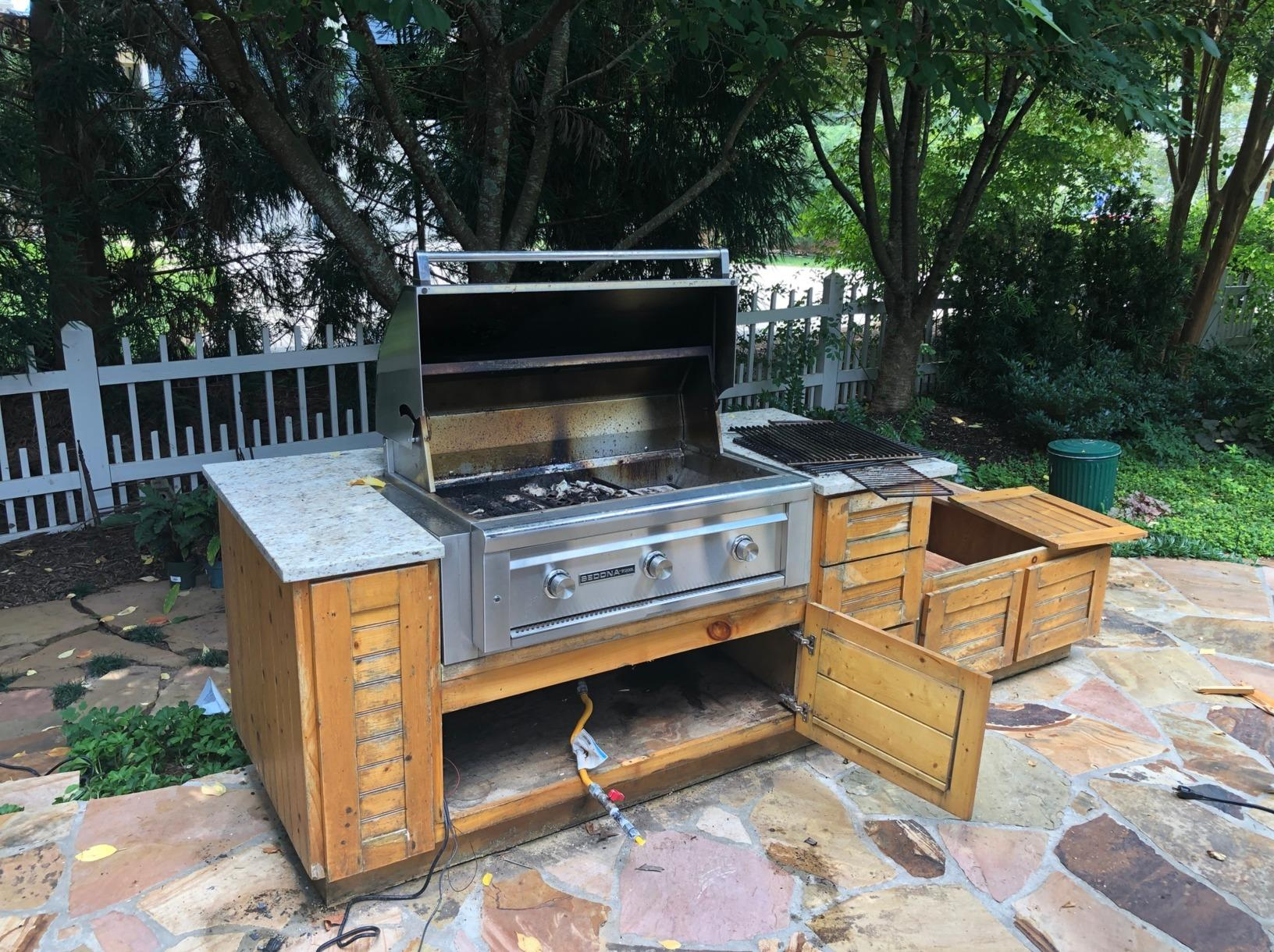 Grill Removal in Roswell, GA - Before Photo
