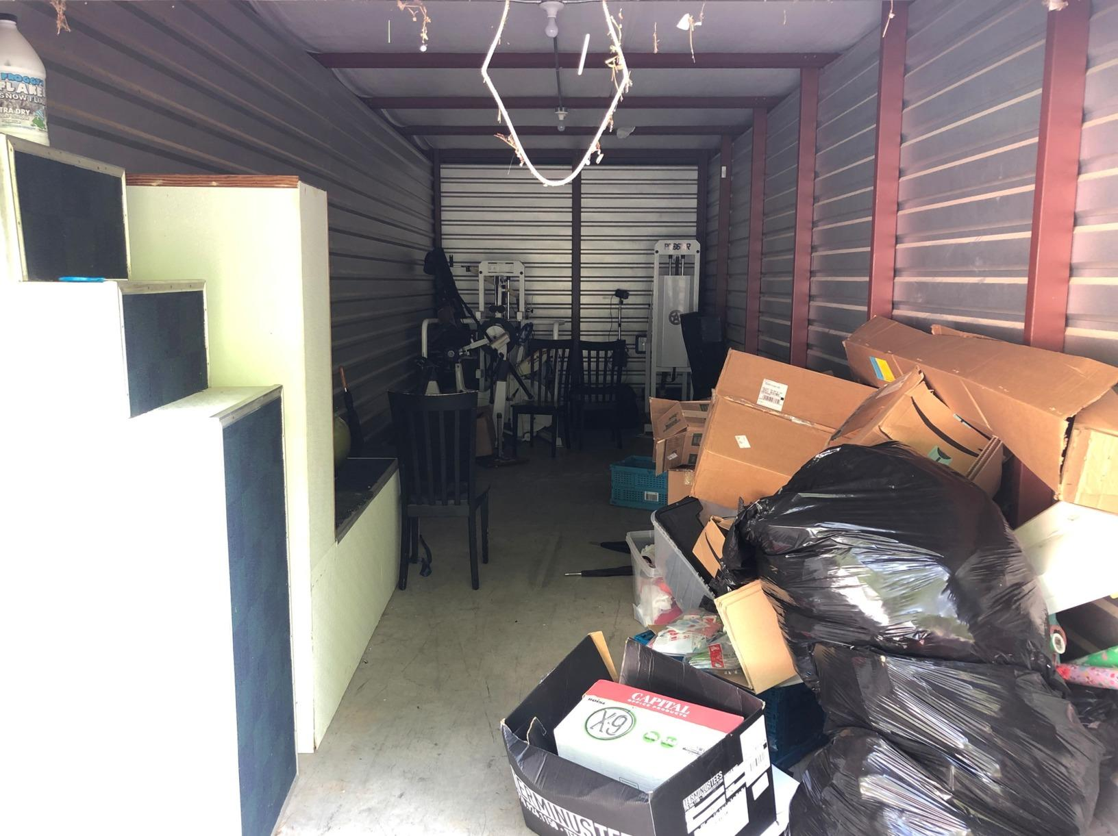 Storage Unit Cleanout in Cumming, GA - Before Photo