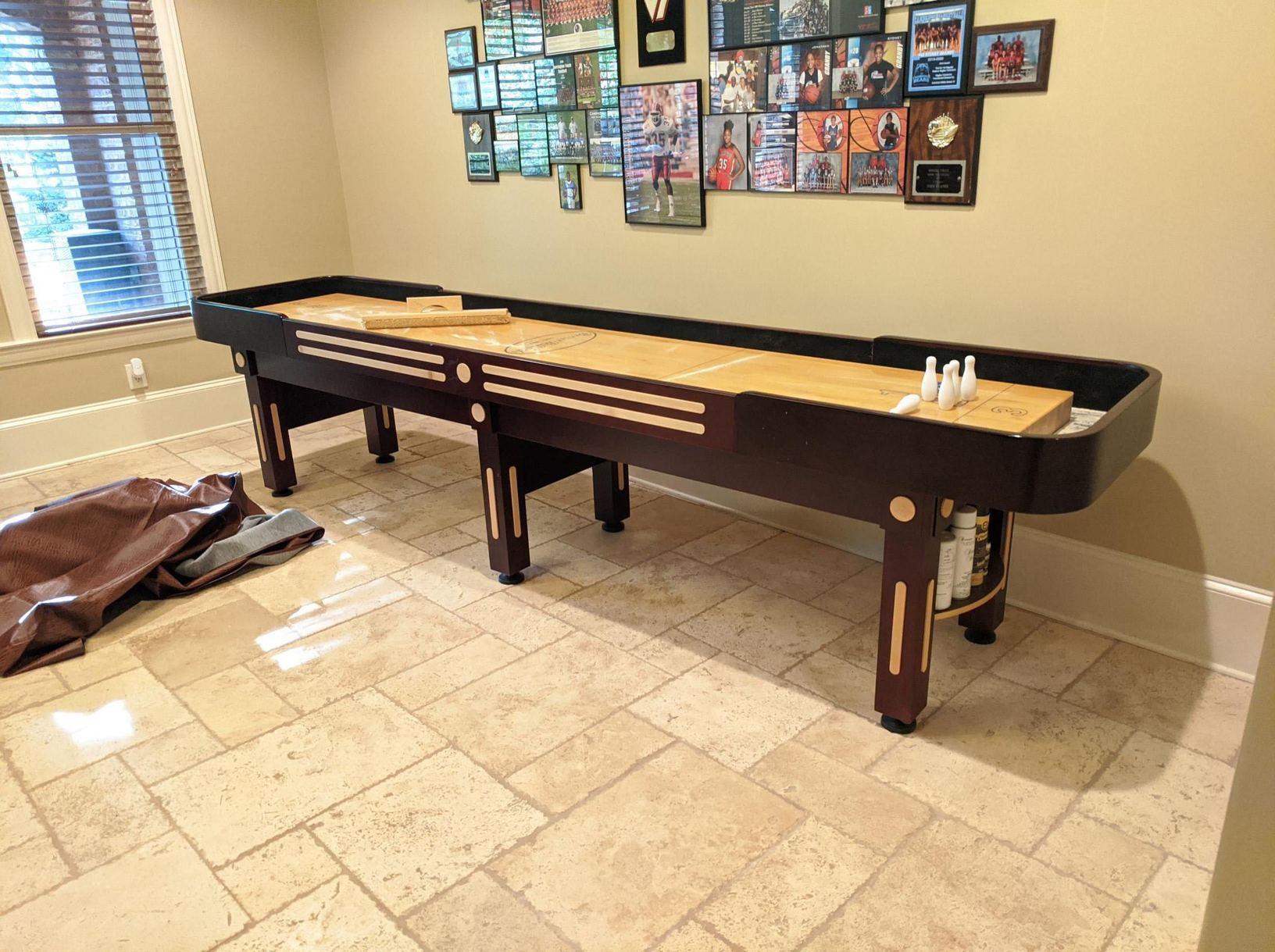 Shuffleboard Table Removal in Milton, GA - Before Photo