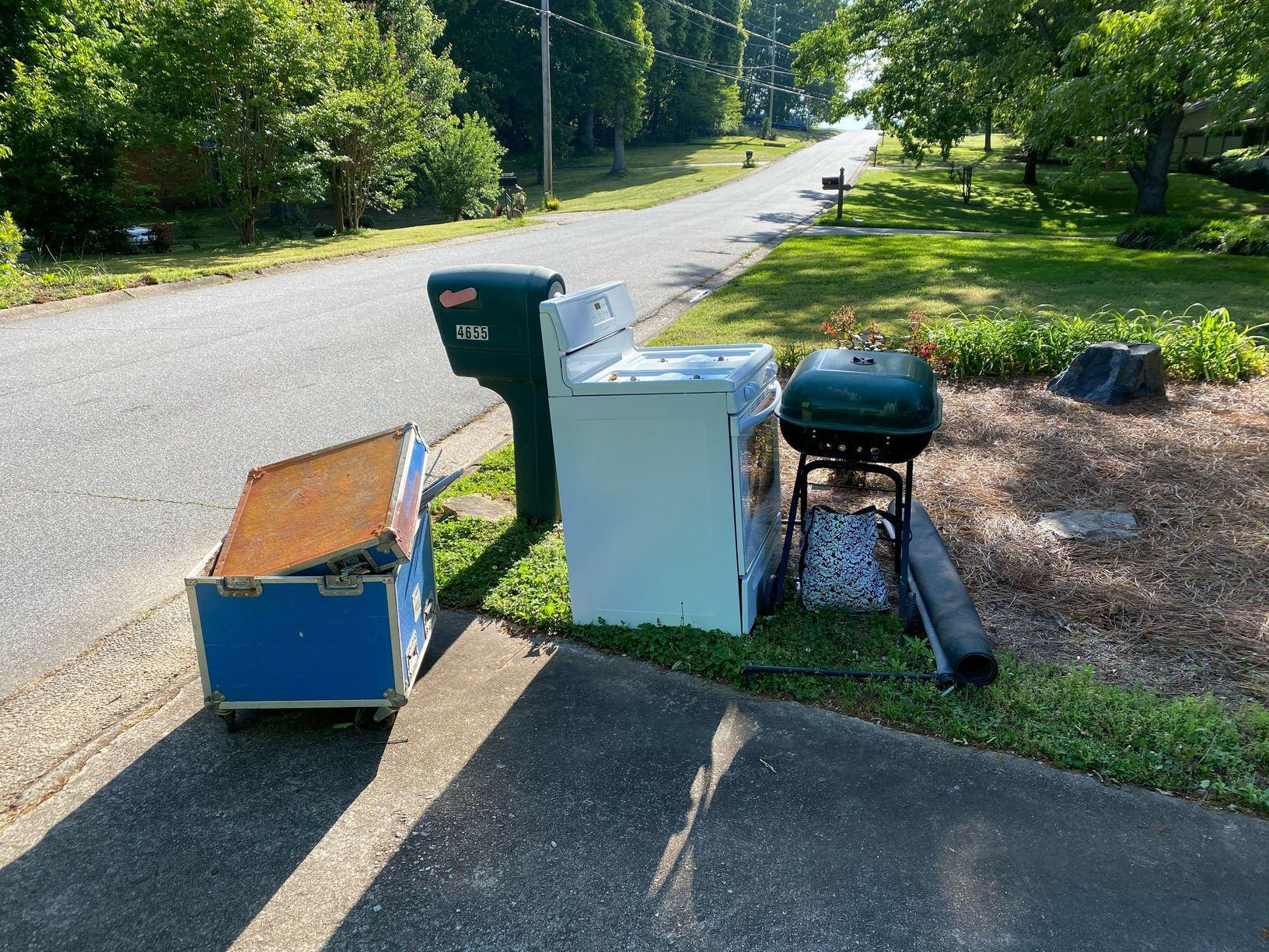 Curbside Junk Removal in Cumming, GA - Before Photo