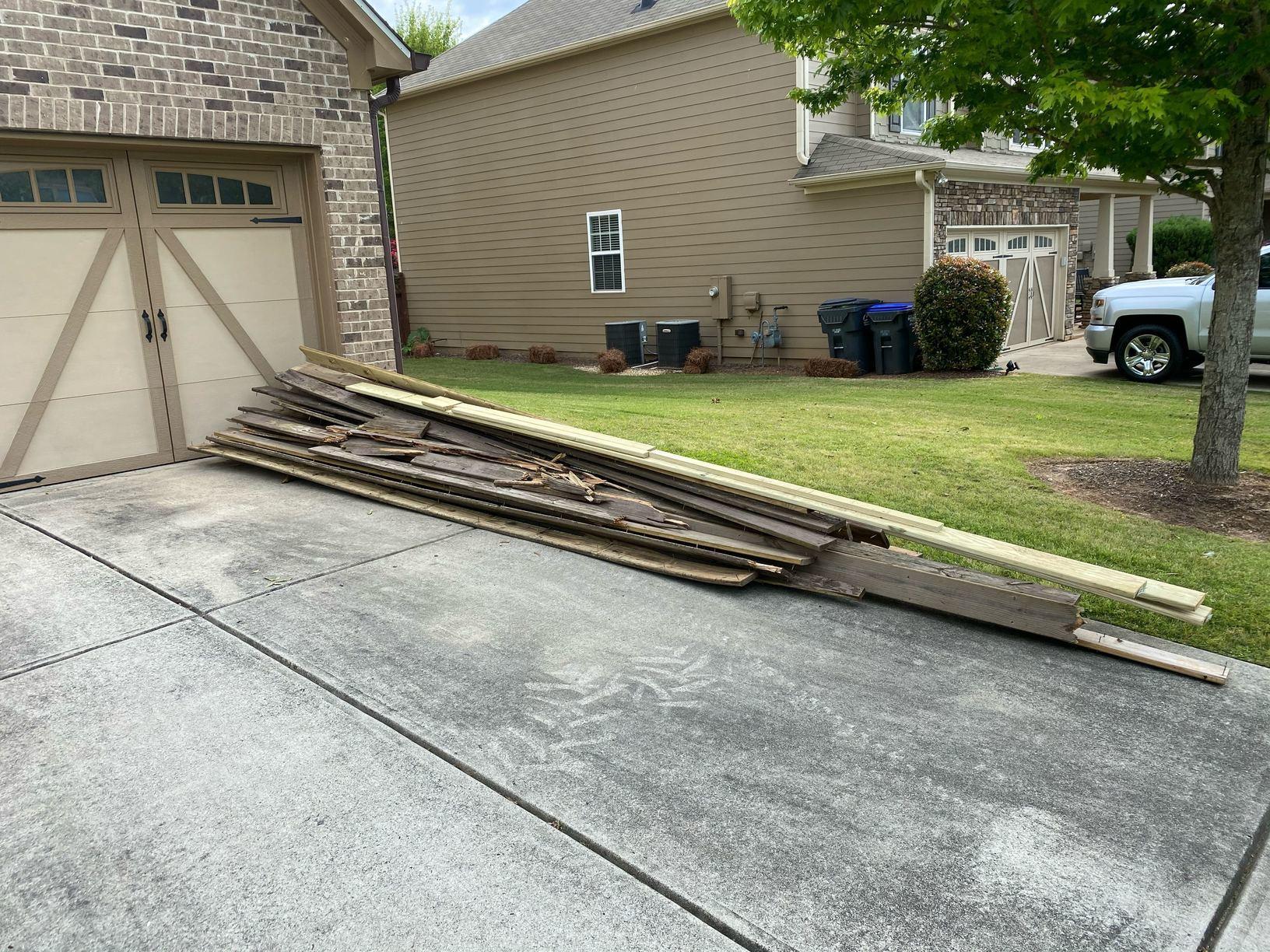 Lumber Removal in Cumming, GA - Before Photo