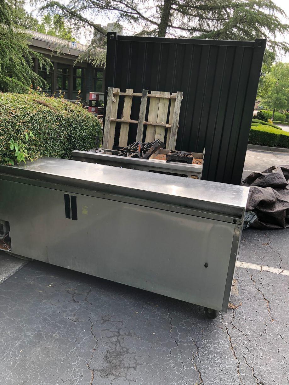 Restaurant Refrigerator and Grill Removal in Alpharetta, GA - Before Photo