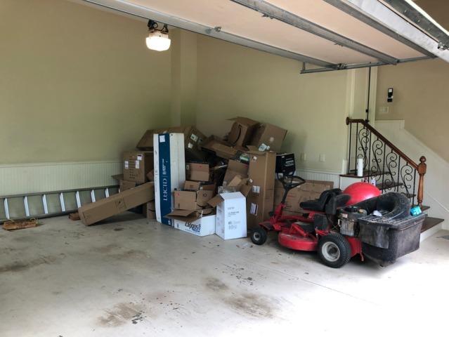 Garage Cleanout in Milton, GA - Before Photo