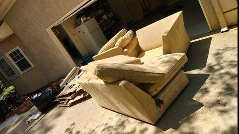 Sectional sofa removal in Suwanee, Georgia.