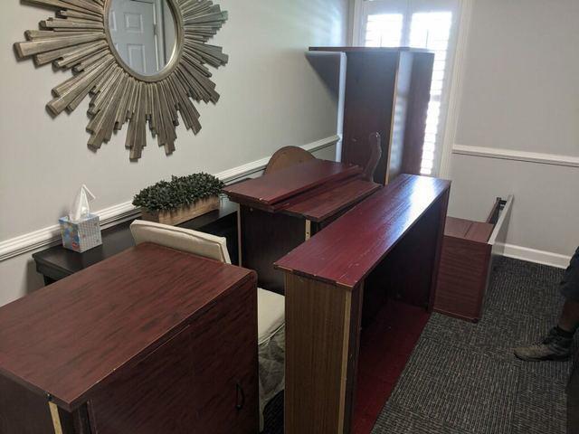 Executive desk office removal in Alpharetta, GA