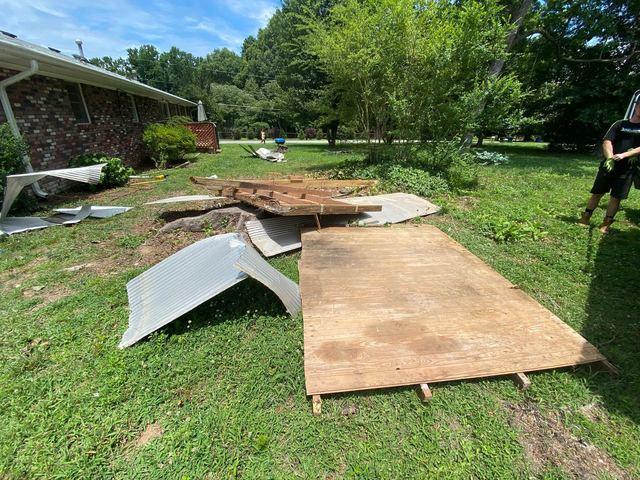 Demolition debris removal in Alpharetta, GA
