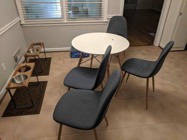 Dining room table and chairs removal and donation in Cumming, GA - Before Photo