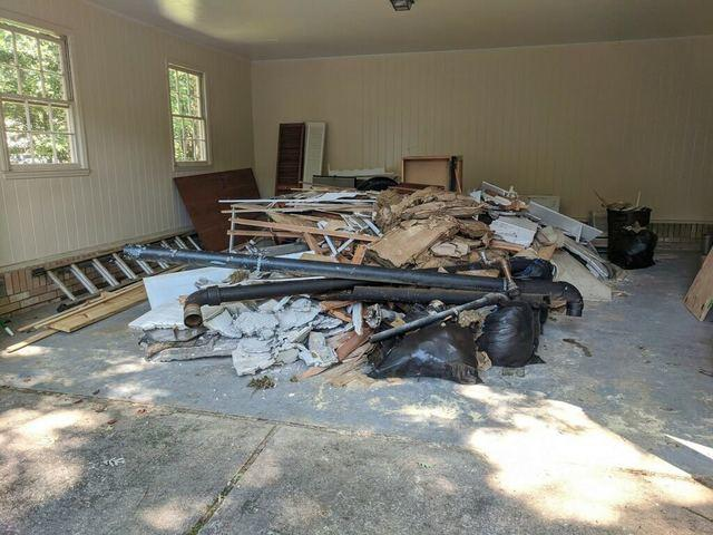Construction debris pickup in Alpharetta, Georgia.